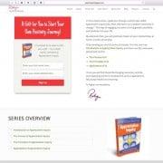 Positivity Strategist Web Design: Free e-Book Page Design