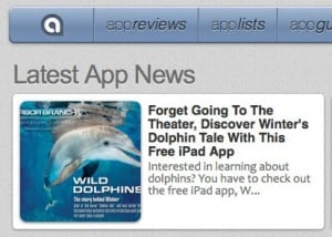 App Advice Review of Wild Dolphins iPad App