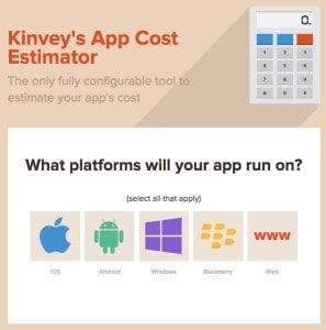 Kinvey Cost To Develop An App Estimator