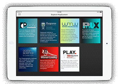 PolyContent iPad