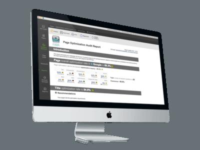 Page Optimization Report on iMac