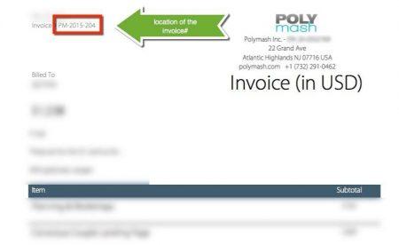 Polymash Invoice