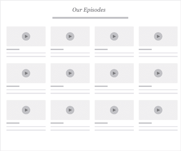 The Upside Down Podcast Website Design Pattern - Episode Grid