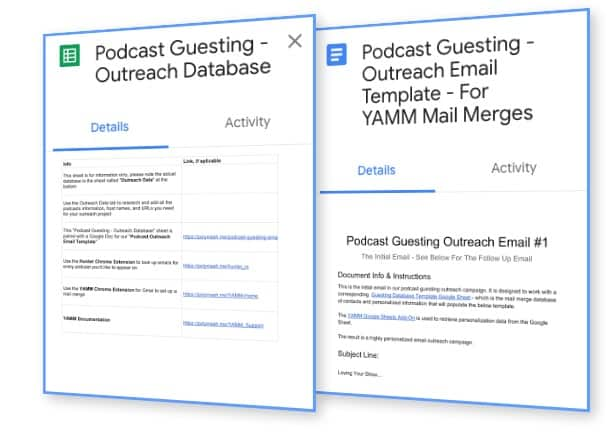 Podcast Guesting Templates