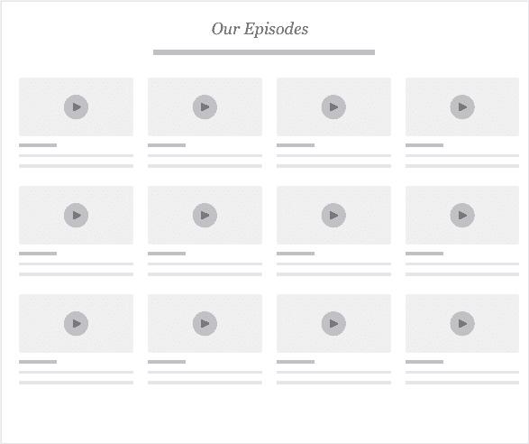 The Upside Down Podcast Website Design Pattern - Episode Grid