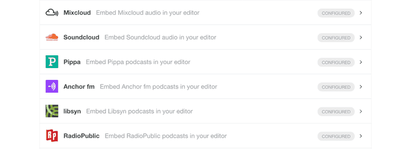 Story Chief Editor embeds that are podcast syndication ready