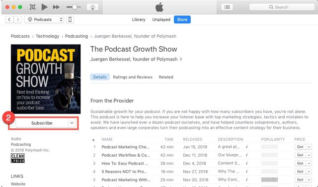Podcast Growth Show Reviews How To Step 01-640