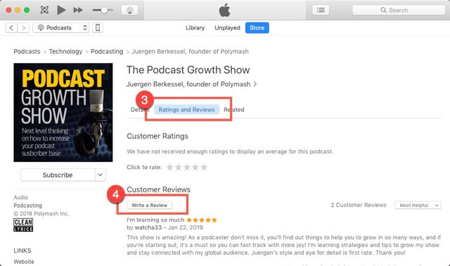 Podcast Growth Show Reviews How To Step 02-640