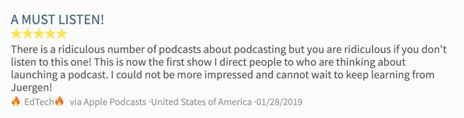 Podcast Testimonial