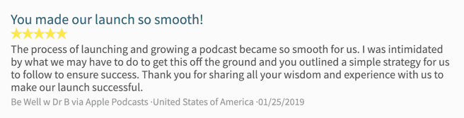 Podcast Growth Show Testimonial
