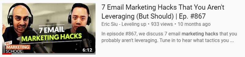 Interesting titles are key when using Youtube for podcast marketing