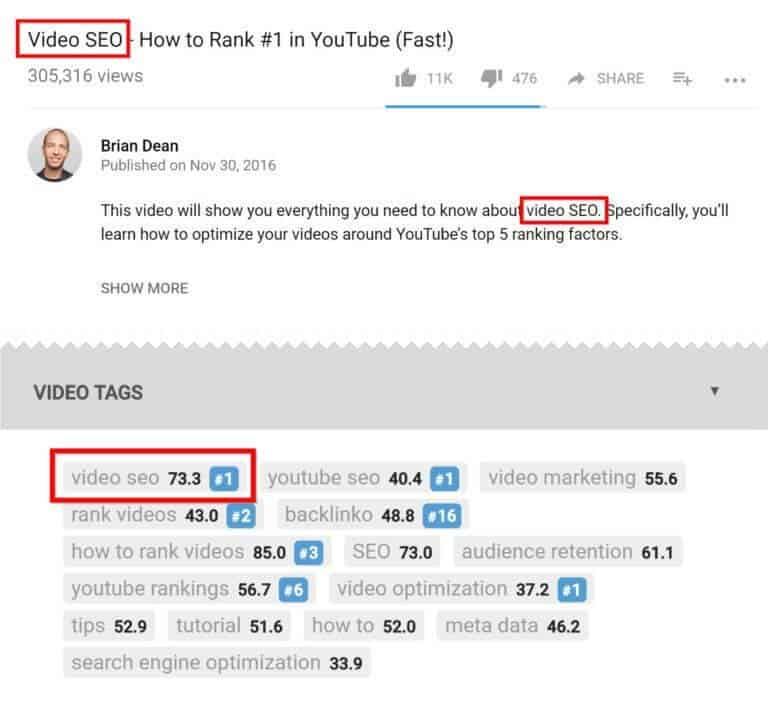 Brian Dean on video SEO when using YouTube For Podcast Promotion
